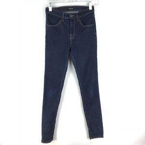 J Brand Maria Skinny Jeans Dark Wash Sz 25 FLAW